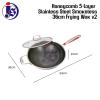 34CM / 36CM Honeycomb 5-Layer Stainless Steel Smokeless Frying Wok V2 Wok Range Kitchen Equipment