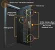 D4 Series D Series SUS304 Grille Security Door