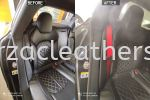 AUDI S7 SEAT BELT REPLACE FROM BLACK TO RED Car Interior Design
