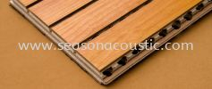 Grooved Acoustic Panel Sound Absorption