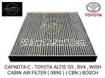 CAFNDTA-C - TOYOTA ALTIS '03 , RV4 , WISH CABIN AIR FILTER ( 0890 ) ( CBN ) BOSCH