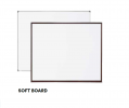 SB34W FOAM Notice Board - Classic Wooden Frame Notice Board  Writing Equipment