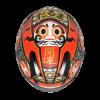 ZEUS ZS-811-Matt Black AL35 Red FULL FACE MOTORCYCLE HELMETS