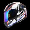 Zeus ZS-811-Black AL3 Blue FULL FACE MOTORCYCLE HELMETS