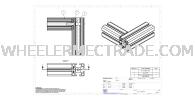 C Connector for Aluminium Profile P6 Series C-Connector Aluminium Profile Accessories Aluminium