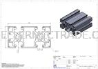 Aluminium Profile 45 x 90 P10 Series Aluminium Profiles Aluminium Profile