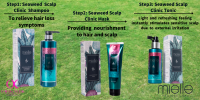 MIELLE PROFESSIONAL SEAWEED SHAMPOO/HAIR MASK/CLINIC TONIC FOC X1 IONIC HAIR DRYER MIELLE PROFESSIONAL SEAWEED RANGE PROMOTION WITH SET
