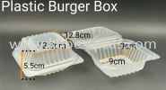 T201Plastic Burger Box 100pcs+/- TAKE AWAY PACKAGING PRODUCTS
