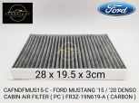 CAFNDFMUS15-C-FORD MUSTANG '15 / '20 DENSO CABIN AIR FILTER ( PC ) FR3Z-19N619-A ( CARBON )