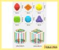 K3268 Rainbow Shape Sorting Toys IQ Game