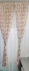 Ready made Curtain  Three Panels Window No Black Out Curtain
