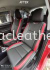 TOYOTA VIOS GX SEAT REPLACE FROM FABRIC TO TRD SPORT SYNTHETIC LEATHER Car Leather Seat