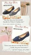 PlusSize Women Flat Shoes- PS-218-8 GREY Colour Plus Size Shoes