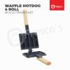 Spare Part Hotdog hot dog sausage waffle maker machine gas 4 Roll Waffle Machine