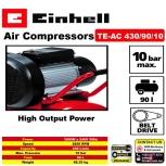 EINHELL 4HP Belt-Driven Air Compressor TE-AC 430/90/10