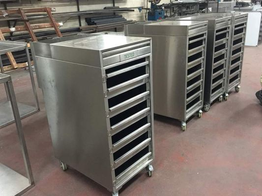 Clean Room Multiple Tray Trolley