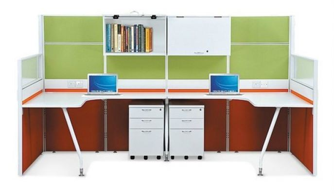 2 Cluster Workstation with Hanging Cabinet (AIM40-C2-3-SP-SBS)