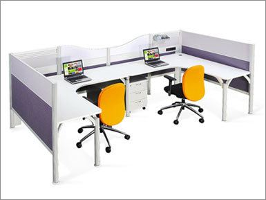 2 Seat Office Pole System (AIM-C2-1-L-PS)