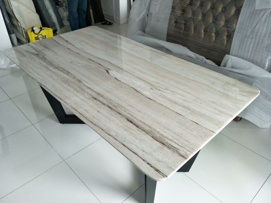 Grey Marble Dining Table - Palisandro