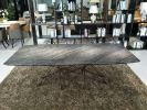 Dark Marble Dining Table - Antique Wood Marble Dining Table