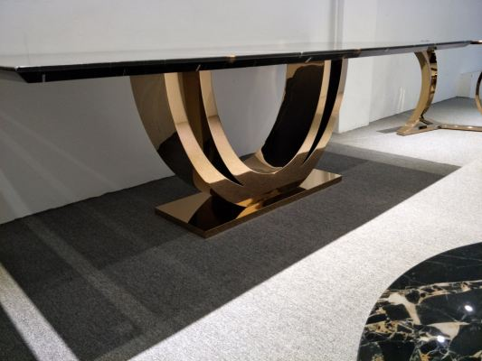 Modern Dining Table Base - Staineless Steel Rose Gold