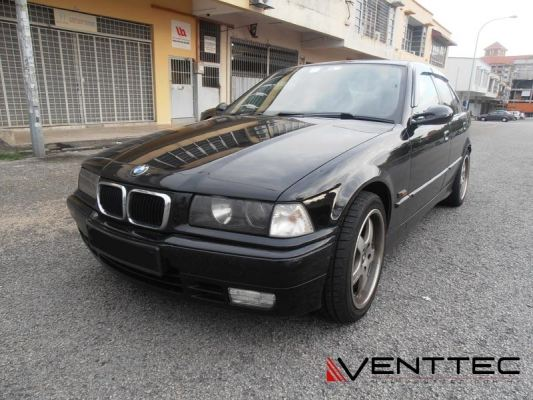 BMW 3-SERIES E36 SEDAN 90Y-99Y = VENTTEC DOOR VISOR