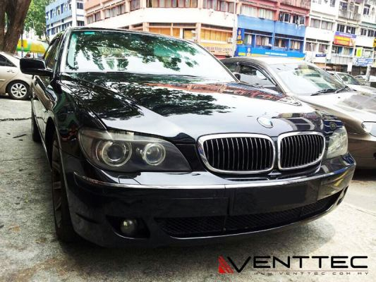 BMW 7-SERIES E66 SEDAN 02Y-08Y (LONG WHEEL BASE) = VENTTEC DOOR VISOR