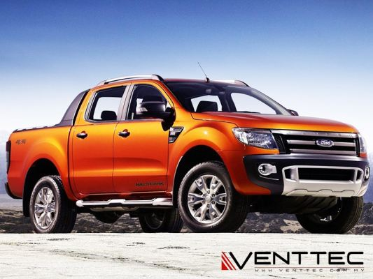 FORD RANGER (T6) 12Y-ABOVE (4�� = 100MM) = VENTTEC DOOR VISOR