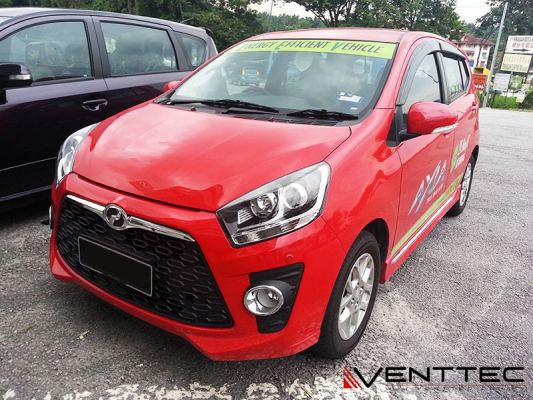 PERODUA AXIA 14Y-ABOVE (3��=75MM) = VENTTEC DOOR VISOR