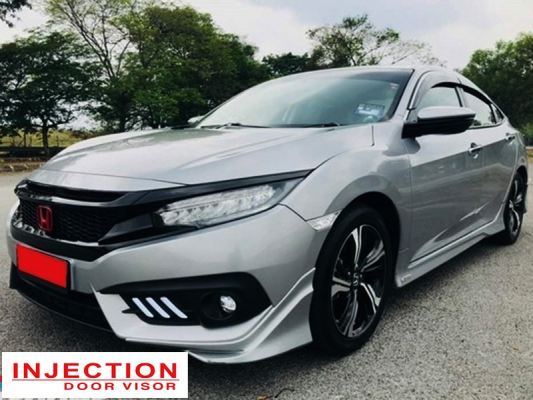 HONDA CIVIC FC 16Y-ABOVE = INJECTION DOOR VISOR WITH STAINLESS STEEL LINING
