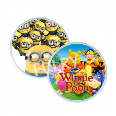 Acrylic Button Badge 60mm (100Pcs/Pack)