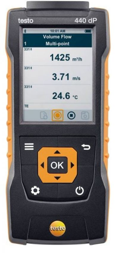 testo 440 dP - Air velocity and IAQ measuring instrument including differential pressure sensor