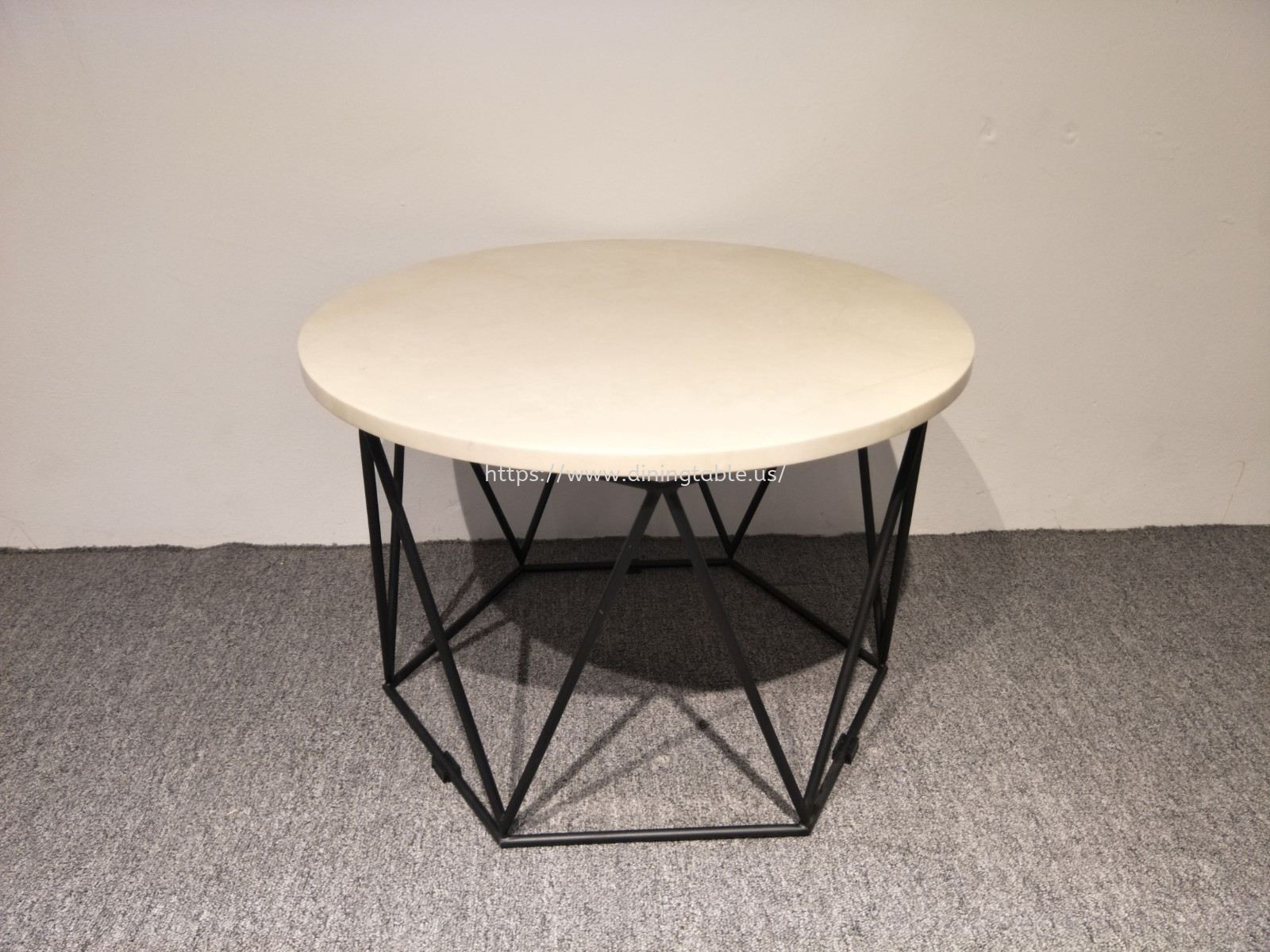 Marble Coffee Table - Hexagon Stand