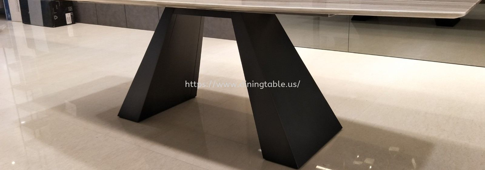 Rectangular Table Base - Quartz Dining Table