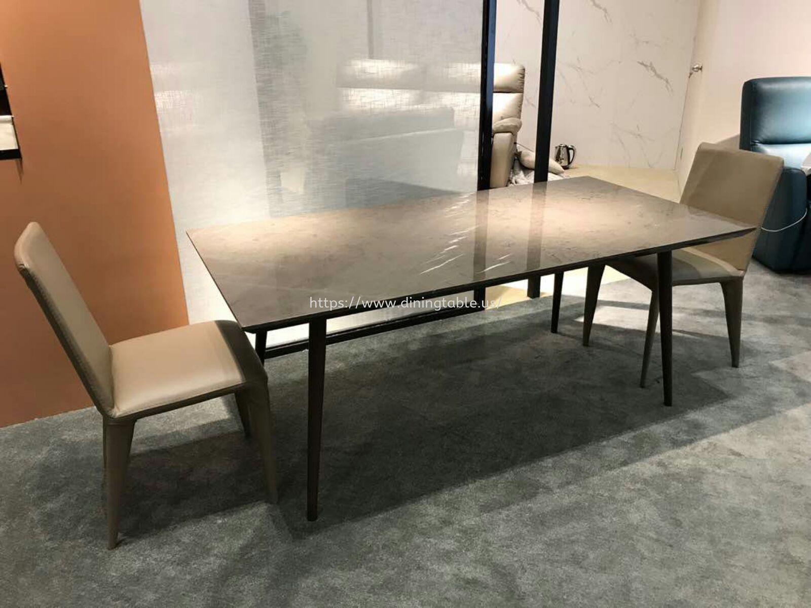 Grey Marble Dining Table - Pietra Grey
