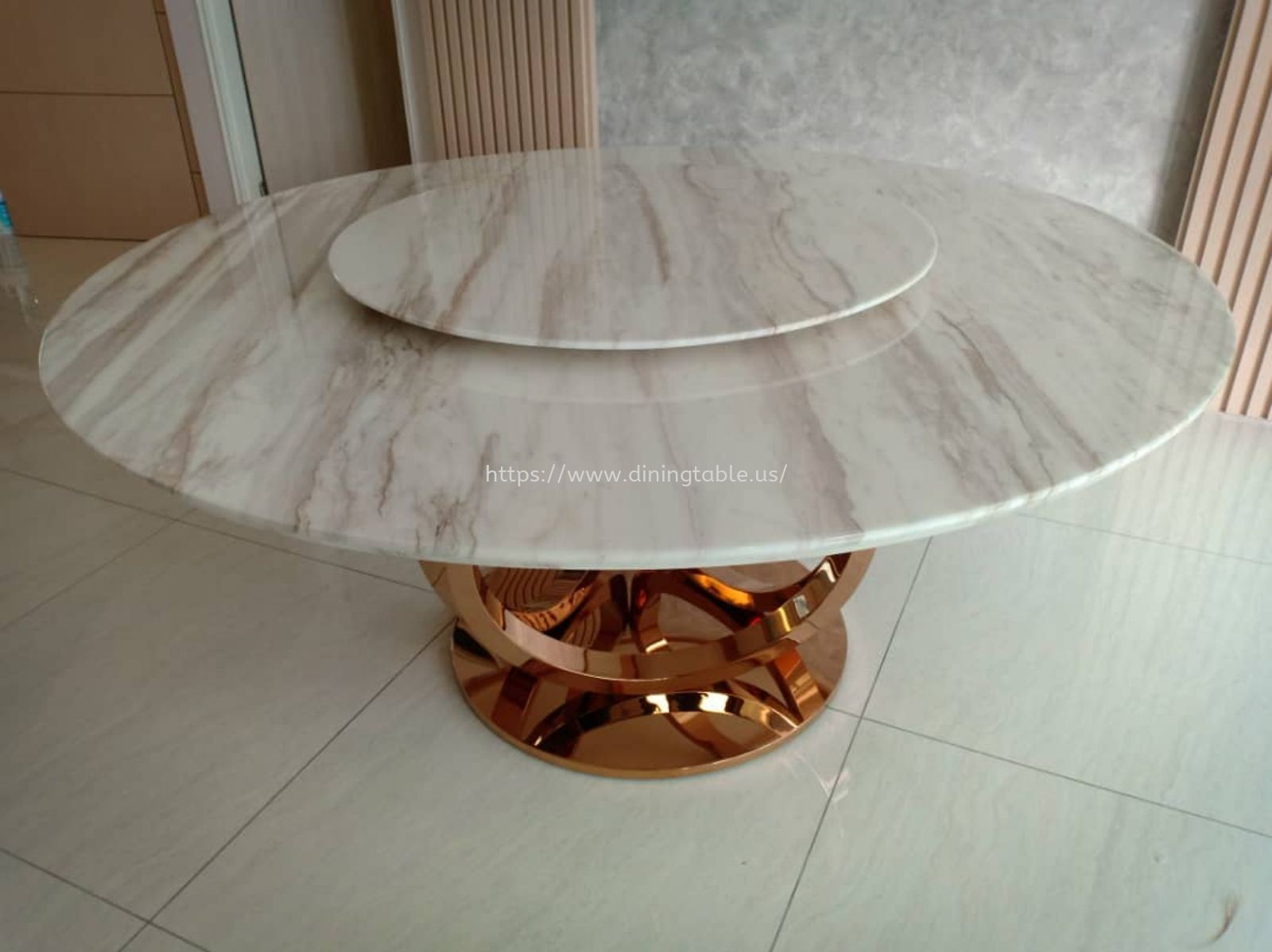 Nature Marble Dining Table - Stain Free Marble Top