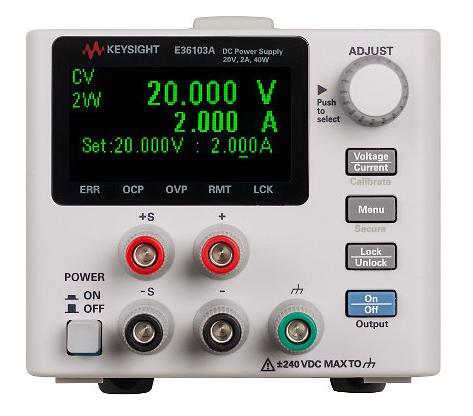 DC power supply, 20V, 2A, 40W, E36103A