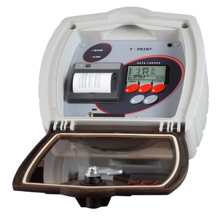 Comet T-PRINT - temperature recorder for semi-trailer with built-in GSM modem and wireless output