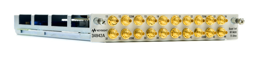 Quad 1x4 75 Ohm 1.5 GHz Multiplexer Module for 34980A, 34942A