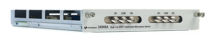 Dual 1x2 SPDT Terminated Microwave Switch Module for 34980A, 34946A