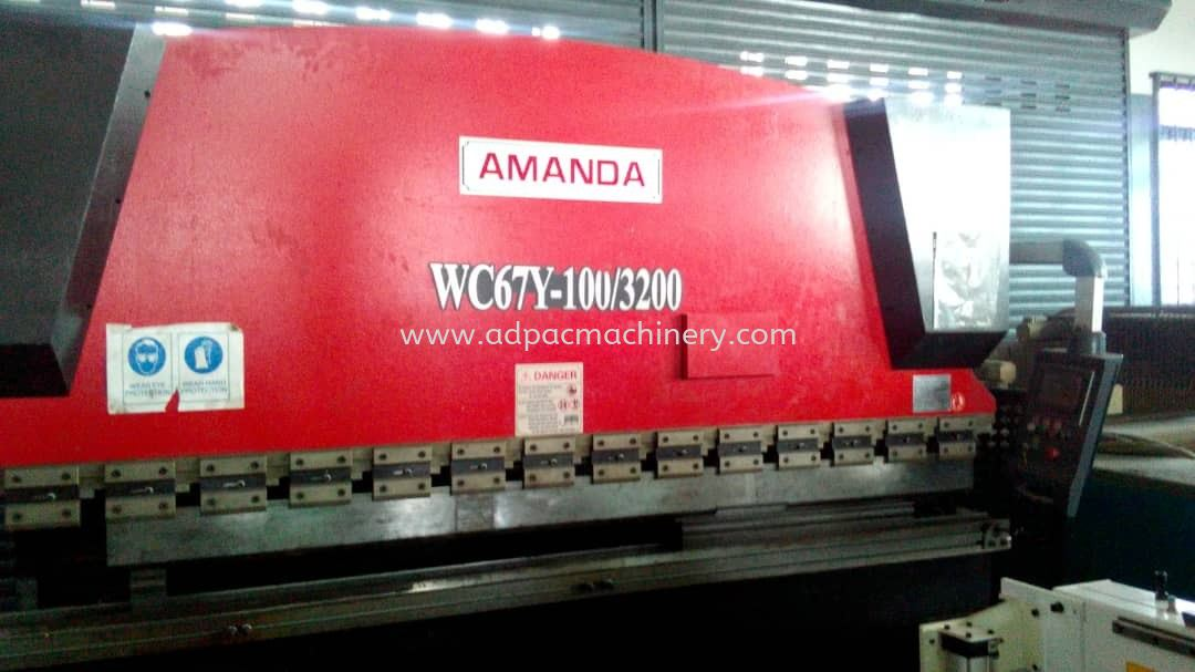 Used Amanda Hydraulic Pressbrake With Angle Programming
