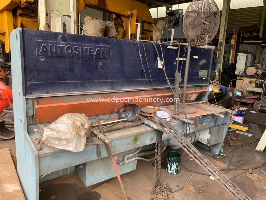 "Used ""Autoshear"" Hydraulic Shearing Machine"