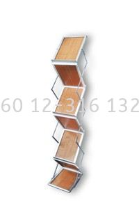 Wood Plate Brochure Stand (SBW)