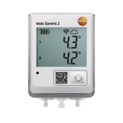 Testo Saveris 2-T2 | WiFi Data Logger with Display and 2 Connections for NTC Temperature Probes [Delivery: 3-5 days]