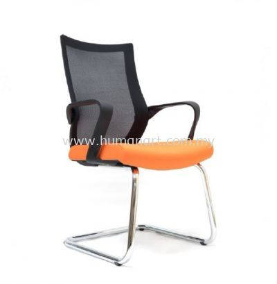 OWER 1 VISITOR ERGONOMIC MESH CHAIR WITH CHROME BASE