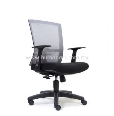 EXOTIC MEDIUM BACK ERGONOMIC MESH CHAIR WITH POLYPROPYLENE BASE