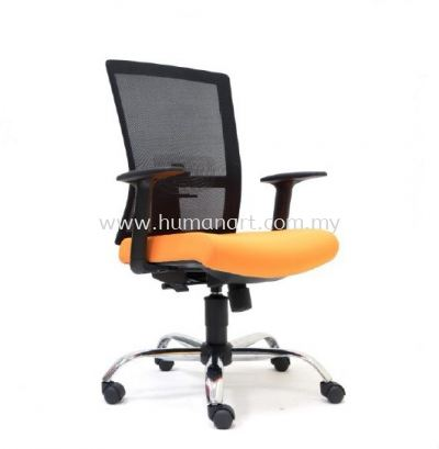EXOTIC 1 MEDIUM BACK ERGONOMIC MESH CHAIR WITH CHROME METAL BASE
