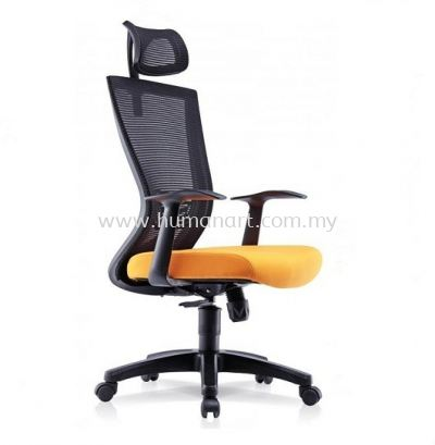 EGOMIC-1 HIGH BACK ERGONOMIC MESH CHAIR WITH FIXED ARMREST