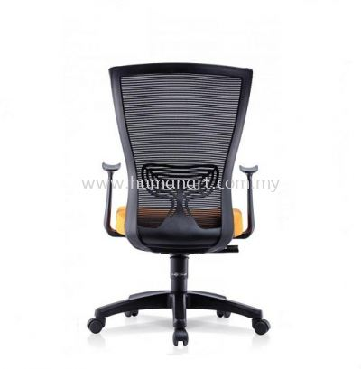 EGOMIC-1 MEDIUM BACK ERGONOMIC MESH CHAIR WITH FIXED ARMREST