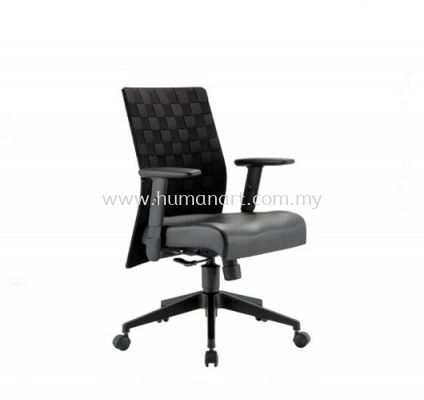 TRION EXECUTIVE LOW BACK LEATHER CHAIR WITH NYLON ROCKET BASE
